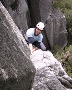 Rock Climbing Photo: Will Sicke on the 1st pitch Reed's Direct