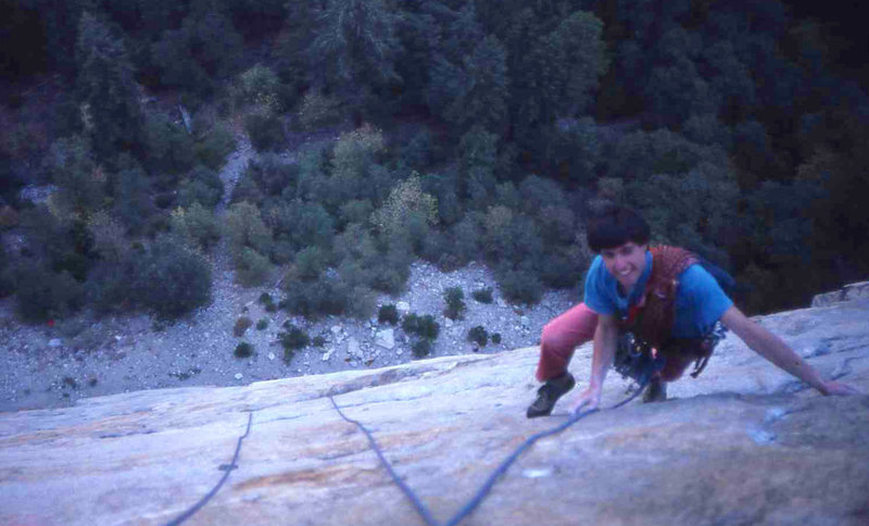 Eric Collins on Stoner&@POUND@39@SEMICOLON@s Highway, Middle Cathedral Rock (scanned slide)