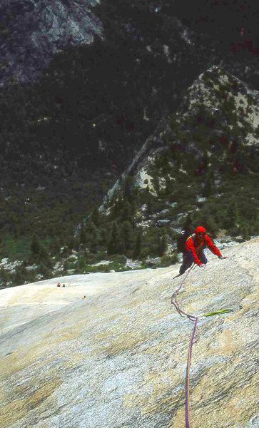 Rock Climbing Photo: Crest Jewel, North Dome Photo by Bill McConachie. ...