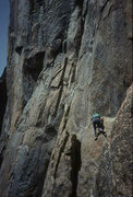 Rock Climbing Photo: Northeast Buttress, Higher Cathedral Rock (scanned...