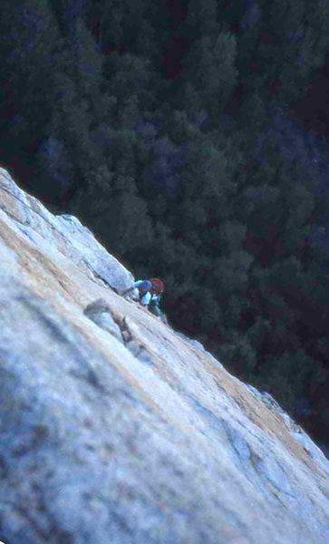 Rock Climbing Photo: Direct North Buttress, Middle Cathedral Rock (scan...