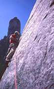 Rock Climbing Photo: East Buttress, Middle Cathedral Rock (scanned slid...