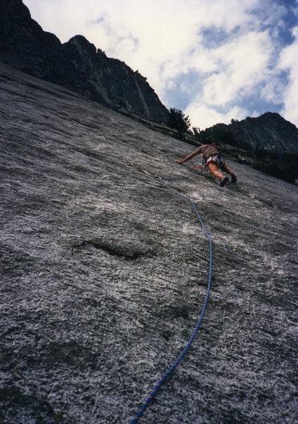 Rock Climbing Photo: Ochre Fields, Glacier Point Apron (scanned slide)