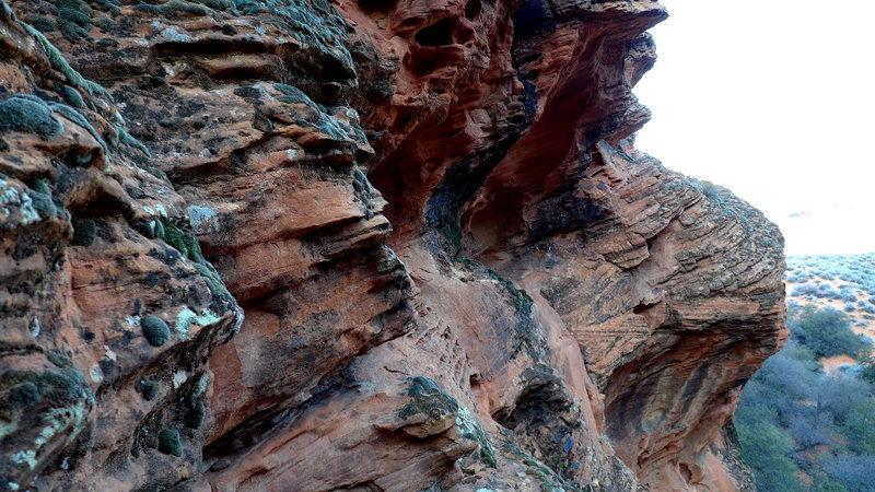 Rock Climbing Photo: mossy traverse start