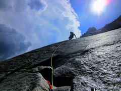 Rock Climbing Photo: Eric Collins, Goodrich Pinnacle, Glacier Point Apr...