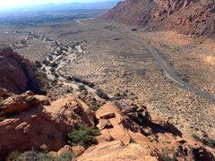 Rock Climbing Photo: south end descent
