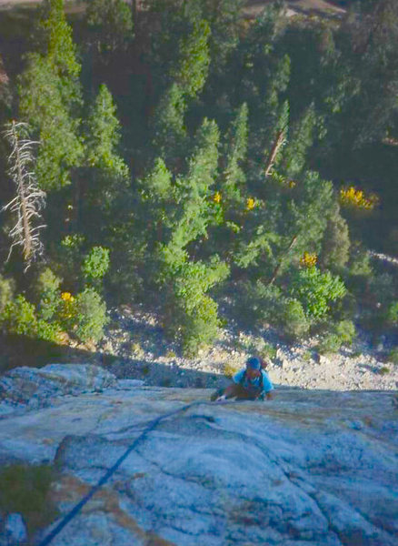 Rock Climbing Photo: Eric Collins on the Direct North Buttress, Middle ...
