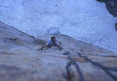 Rock Climbing Photo: John Schafer, Central Pillar of Frenzy (scanned sl...