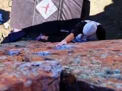 """Rock Climbing Photo: Start of """"Little Crack"""""""