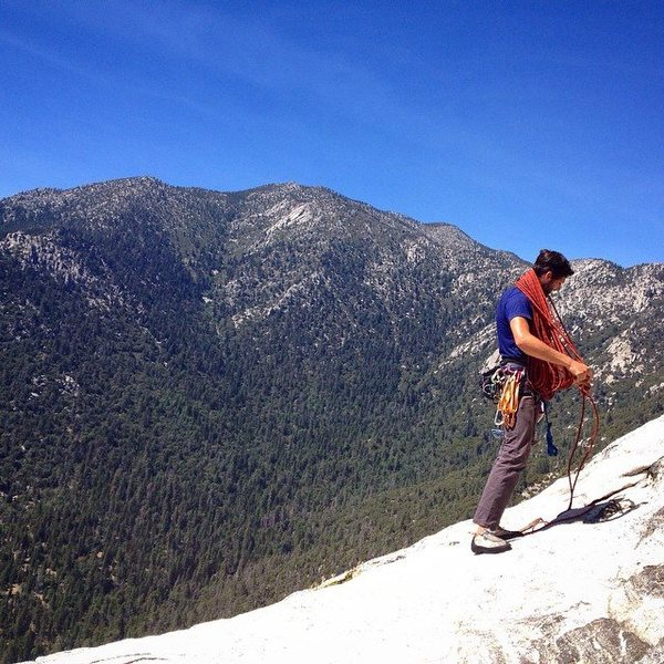 Cleaning up on top of Tahquitz