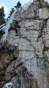 Rock Climbing Photo: 12/31/15.  Found a unique rest on my onsight just ...
