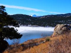 Rock Climbing Photo: Carter Lake.