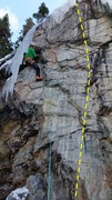 Rock Climbing Photo: Checking out the bolts and moves on The Centerpiec...
