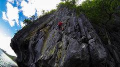 Rock Climbing Photo: Ethan on Mango shake