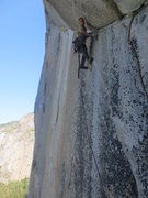 Rock Climbing Photo: Robbie cruisin' the Shield Traverse pitch