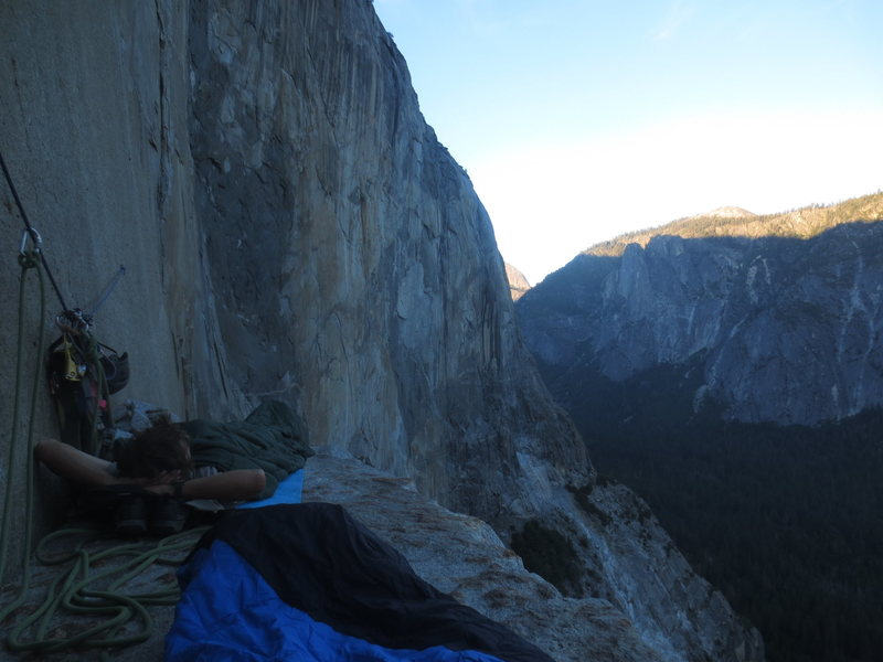 Hanging out on El Cap Tower.