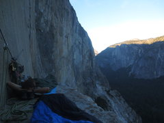 Rock Climbing Photo: Hanging out on El Cap Tower.