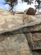 Rock Climbing Photo: At the crux I used 2 small pcs yellow Metolious an...