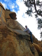 Rock Climbing Photo: Patrick Moran after the initial bouldering start