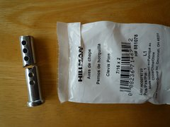 Rock Climbing Photo: Steel clevis pin, not too hard to cut with a hacks...