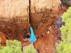 Rock Climbing Photo: Laredo Crack. The BreezeBlocks