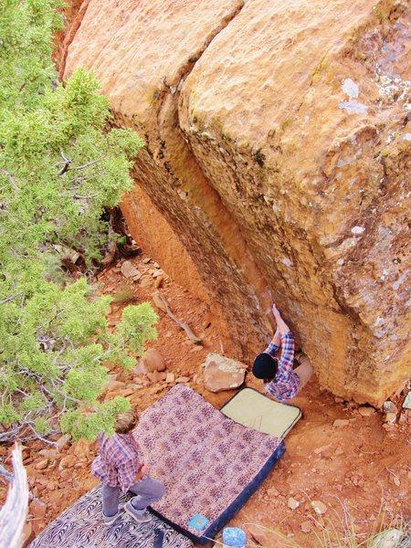 Rock Climbing Photo: A. Maryn on 'Laredo Crack'