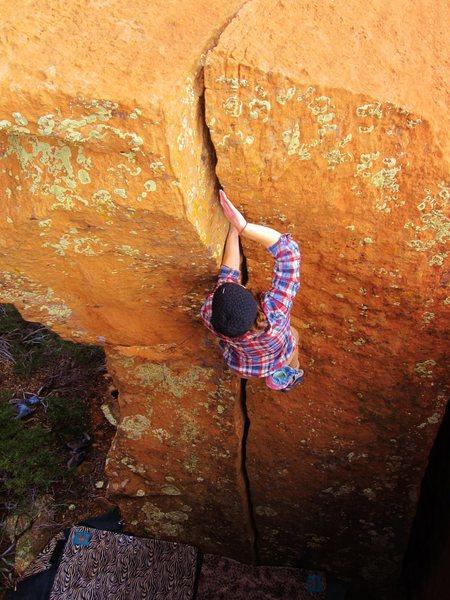 A.Maryn in Sedona jam crack heaven. 'The Handcrack'