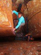 Rock Climbing Photo: Giving CC a go.