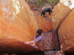Rock Climbing Photo: A.Maryn on 'Custer's Corner'