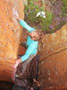 Rock Climbing Photo: Finally latching at the anchor.