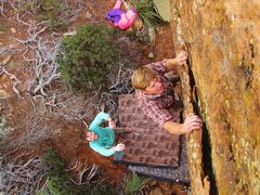Rock Climbing Photo: Someone had to.