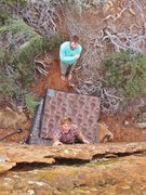 Rock Climbing Photo: Serious or not