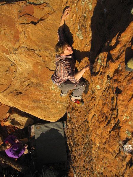 Rock Climbing Photo: 'Sitting Bull'. The BreezeBlocks