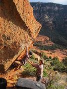 Rock Climbing Photo: Lip encounter of the Sedona kind.