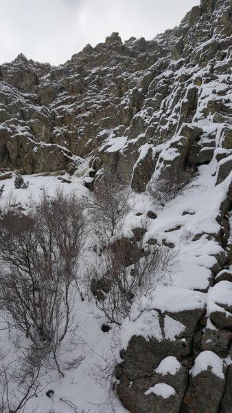 Lower ice climb
