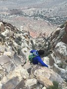 Rock Climbing Photo: The descent gulley.