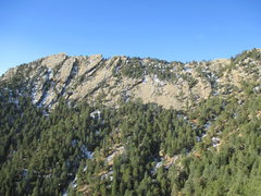Rock Climbing Photo: East face of Green Mt. as seen from the top of Moh...