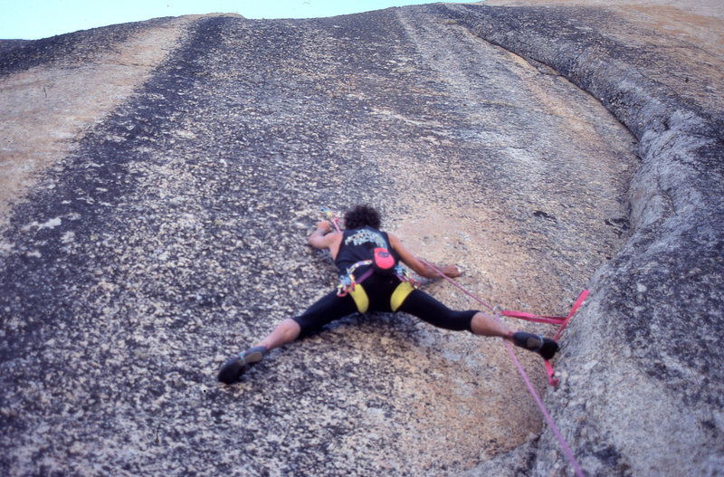 """Rock Climbing Photo: Peter Mayfield leading """"European Vacation&quo..."""