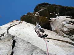 Rock Climbing Photo: Guides Wall, p4 right variation.