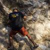 buddy ed climbing at Indian Rock Park in Berekeley, CA.