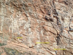 Rock Climbing Photo: left hand side of the base of the south-west facin...