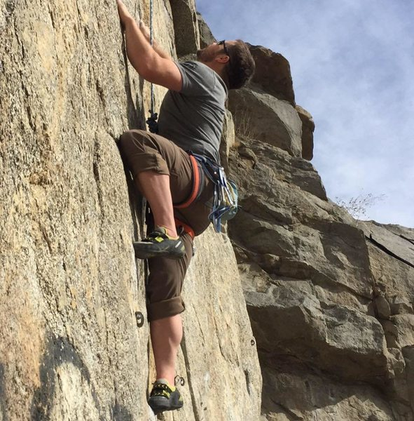 Rock Climbing Photo: just starting ou ton the route, I'm short and coul...