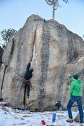 Rock Climbing Photo: hit this guy up in December 2015. Its kind of pain...