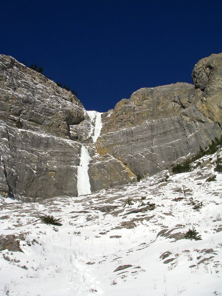Rock Climbing Photo: Bourgeau Left-Hand near Banff and my first WI 5, T...