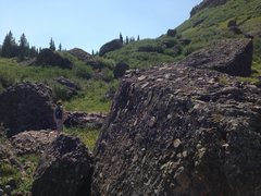 Rock Climbing Photo: View looking up the hill.