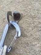 Rock Climbing Photo: 23 year old rusty bolt. Eek!