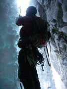 Rock Climbing Photo: So this is what it looks like behind the ice, behi...