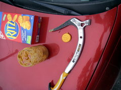 Rock Climbing Photo: Cooking with an Ice Axe, Its good to see some thin...