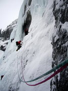 Rock Climbing Photo: Weeping Wall, Middle Route in Canada with team Eur...