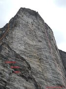 Rock Climbing Photo: Space Buttress - Steep enough to stay dry  Rockfal...